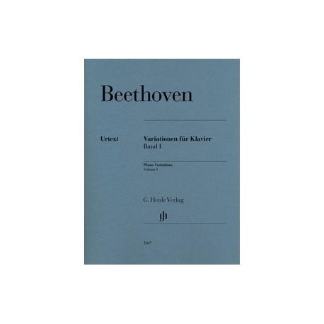 Beethoven. Variaciones Para Piano Vol.1 (Urtext)