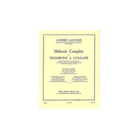 Lafosse. Método Completo de Trombón de Varas Vol.1. Leduc
