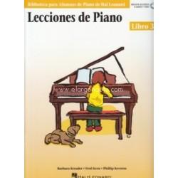 Kreader/Kern. Lecciones De Piano Vol.3 (+Audio Online)