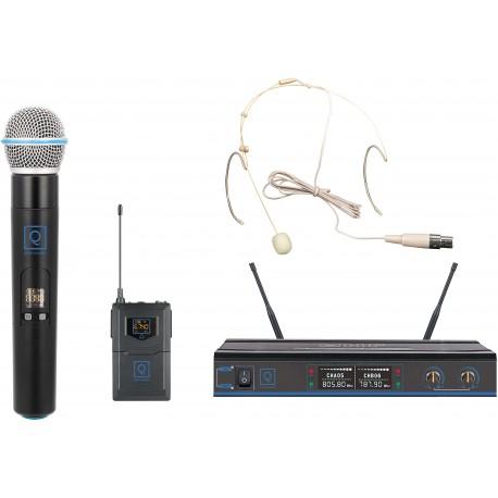 qwm 3 combo handheld earset 470 494mhz fr