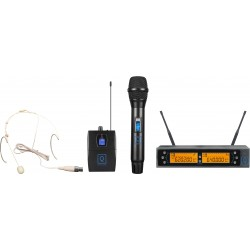 qwm 2 dual combo hh earset 470 494 mhz fr