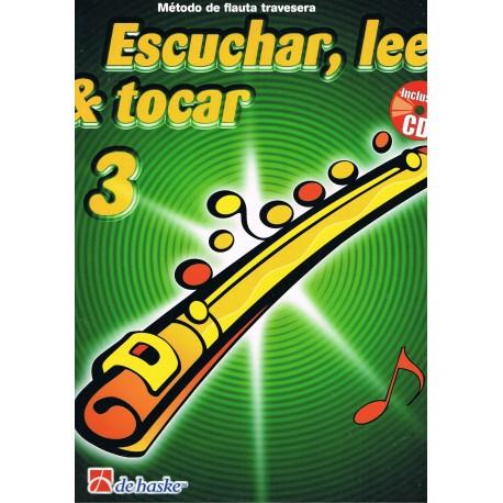 Wichers/Kastelein. Escuchar, Leer y Tocar Vol.3 +CD (Flauta). De Haske