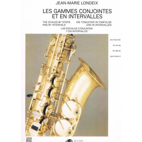 Londeix, Jean-Marie. Las Escalas Conjuntas y en Intervalos (Saxofón)