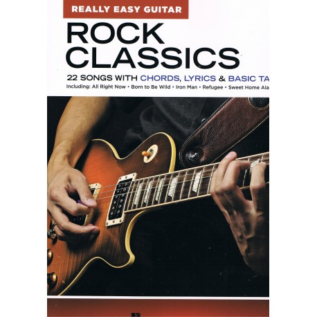 Varios. Rock Classics. 22 Songs with Chords, Lyrics and Basic Tab