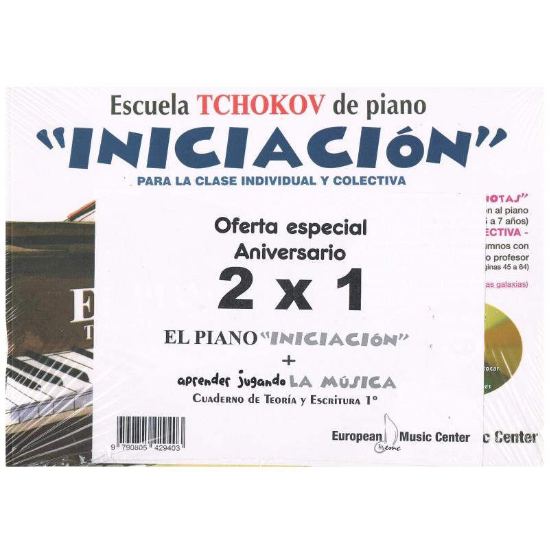 Tchokov-Gemiu. El Piano Iniciacion a la Musica + Aprender Jugando 1º. Oferta 2x1
