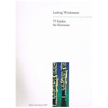 Wiedemann. 75 Estudios Para Clarinete
