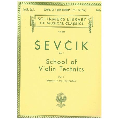 Sevcik. Escuela de la Técnica del Violín Op.1 Parte 1