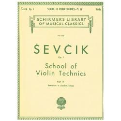Sevcik. Escuela de la Técnica del Violín Op.1 Parte 4