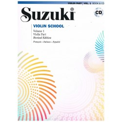 Suzuki Violin School Vol.1 (Violin Part) Revised Edition +CD