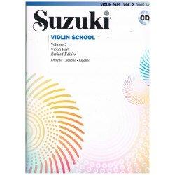 Suzuki Violin School Vol.2 (Violin Part) Revised Edition +CD