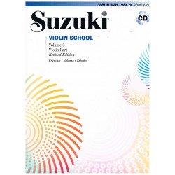 Suzuki Violin School Vol.3 (Violin Part) Revised Edition +CD