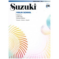 Suzuki Violin School Vol.4 (Violin Part) Revised Edition +CD