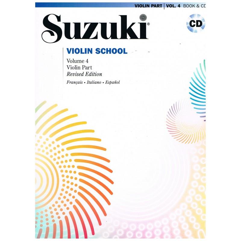 Suzuki Violin School Vol.4 (Violin Part) Revised Edition +CD