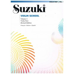 Suzuki Violin School Vol.4 (Violin Part) Revised Edition
