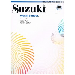 Suzuki Violin School Vol.5 (Violin Part) Revised Edition +CD