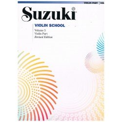 Suzuki Violin School Vol.5 (Violin Part) Revised Edition