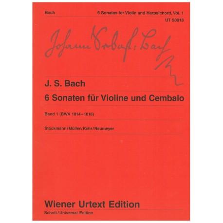 Bach, J.S. 6 Sonatas para Violin y Piano Vol.1 (BWV 1014-1016)