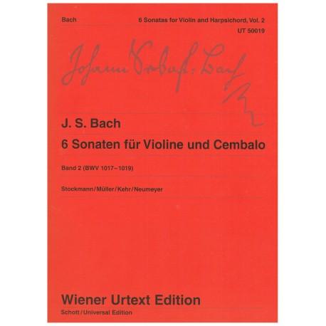 Bach, J.S. 6 Sonatas para Violin y Piano Vol.2 (BWV 1017-1019)
