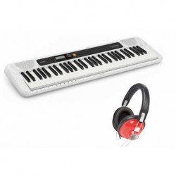 CASIO CT-S200WE CASIOTONE KIT TECLADO + AURICULARES OQAN QHP-20RD