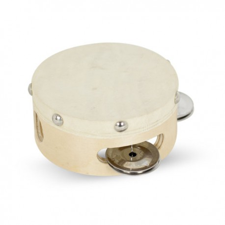 pandereta sencilla 10 cm p/piel ref.vh01305