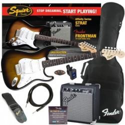 Fender Squier Affinity Strat Sunburst Pack