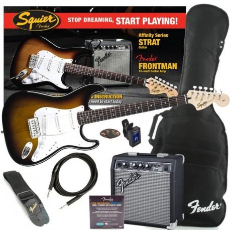 Fender Squier Affinity Strat Sunburst Pack+Frontman 10G