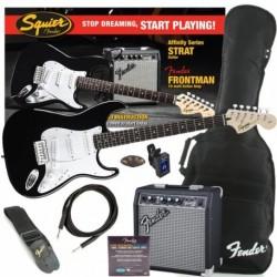 Fender Squier Affinity Strat Negro Pack