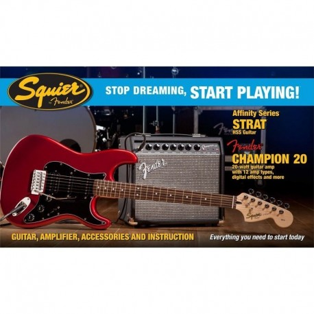 Pack Fender Squier Strat HSS CH20 CAR