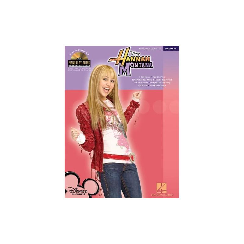 HANNAH MONTANA. 8 PLAY GREAT SONGS HIT TV SERIES +CD (PVG)