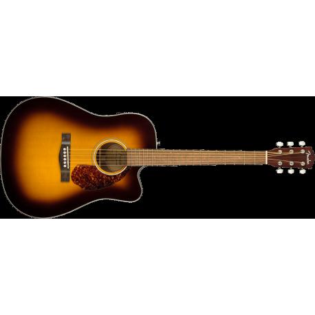 Fender CD-140SCE Dreadnought, Walnut Fingerboard, Sunburst w/case