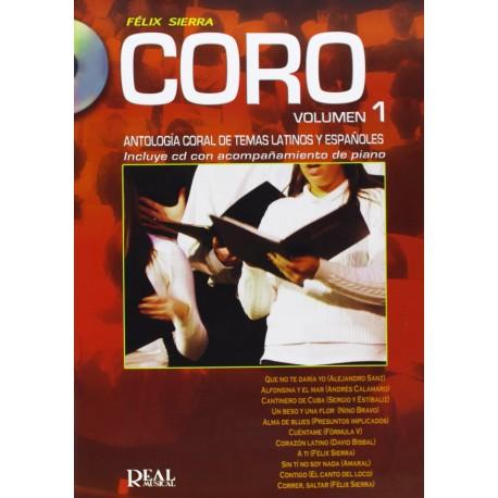 SIERRA. CORO VOL.1 +CD (ANTOLOGIA CORAL TEMAS LATINOS Y ESPAÑOLES)