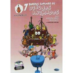 LOPEZ HENS. 7 BANDAS SONORAS DE DIBUJOS ANIMADOS (VIOLONCHELOS).