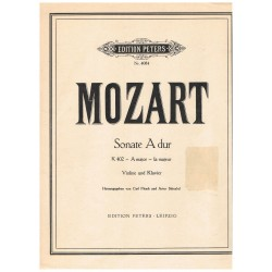 Mozart. Sonata La Mayor...