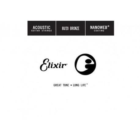 CORDE ACIER PLEIN 015  (ELIXIR)