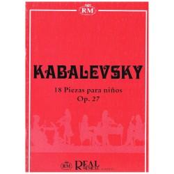 Kabalevski. 18 Piezas para...