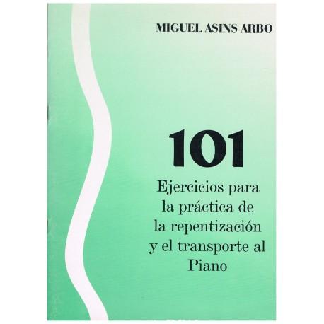 Asins Arbó. 101 Ejercicios para la práctica de la Repentización y el Transporte al Piano. Real Musical