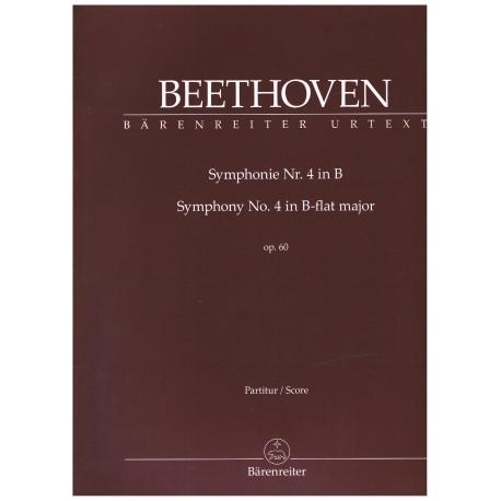 Beethoven. Sinfonía nº4 en SI Bemol Mayor Op.60 (Full Score). Barenreiter