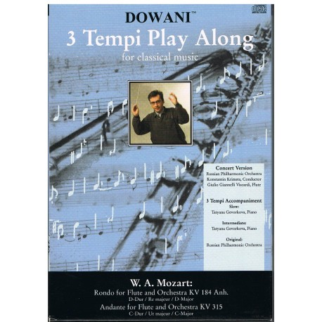 Mozart. Rondo en ReM KV 184 / Andante en DoM KV 315 (Flauta y Orquesta). Dowani