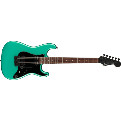 Fender Boxer Series Stratocaster® HH, Rosewood Fingerboard, Sherwood Green Metallic