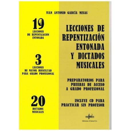 García Mesas. Lecciones de Repentización Entonada y Dictados Musicales. Si Bemol