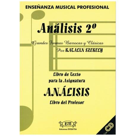 Szekely, Katalin. Análisis 2º. Grandes Formas Barrocas y Clásicas (Profesor). Ediciones Maestro
