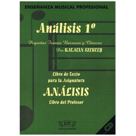 Szekely, Katalin. Análisis 1º. Pequeñas Formas Barrocas y Clásicas (Profesor). Ediciones Maestro