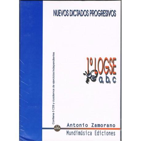 Zamorano, Antonio. Nuevos Dictados Progresivos 1º A-B-C LOGSE +3CD. Mundimúsica