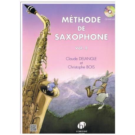 Delangle/Bois. Méthode de Saxophone Vol.2 +CD. Lemoine