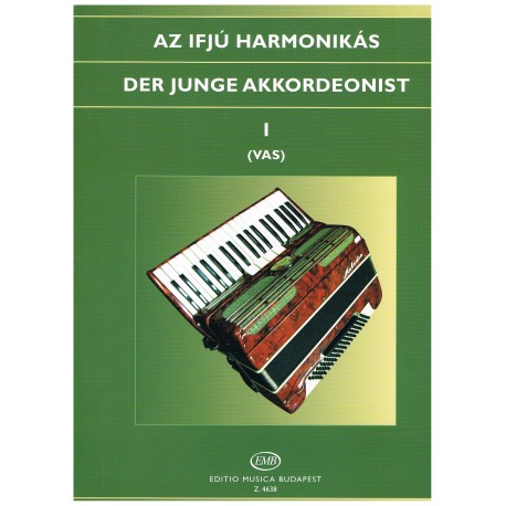 Vas, Gábor. El Joven Acordeonista I. Editio Musica Budapest
