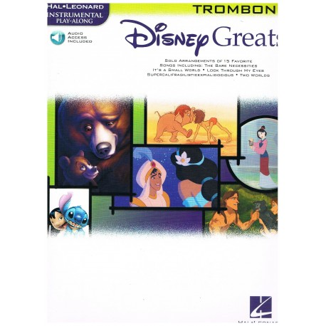 Disney. Disney Greats Trombone +Audio Access. Hal Leonard