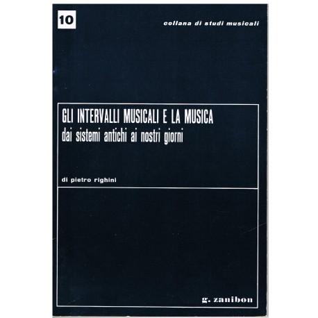 Righini. Gli Intervalli Musicali e la Música (Italiano). Zanibon