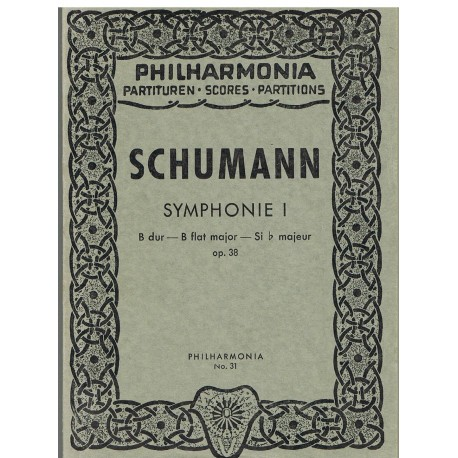 Schumann. Sinfonía Nº1 Sib Mayor Op.38 (Full Score Bolsillo). Philarmonia