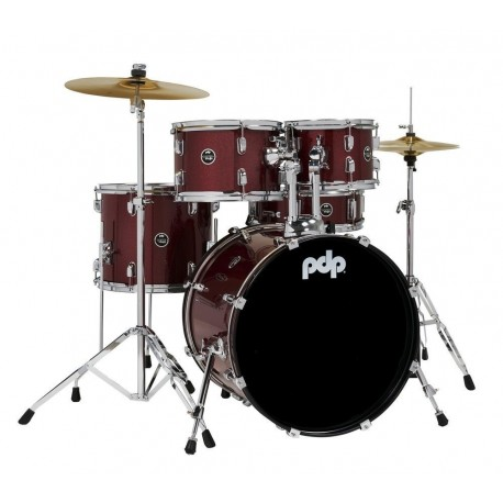 PDP by DW PDCE2015KTRR E-Drum Sets Centerstage Red Sparkle