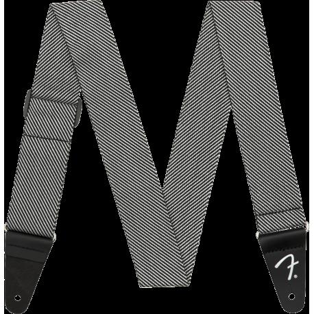 "Correa Fender Modern Tweed Strap, White/Black 2"""